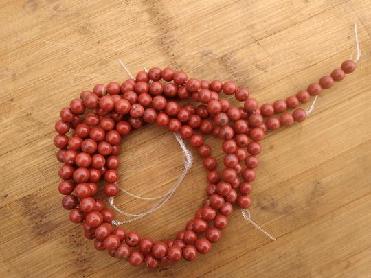 jaspe rouge perles 6mm