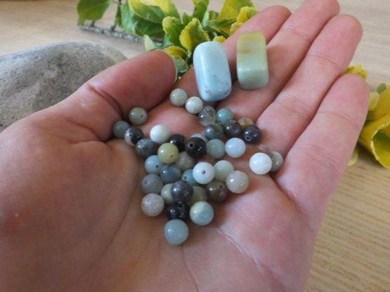 perle amazonite 6mm