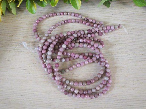 rhodochrosite perle 6mm