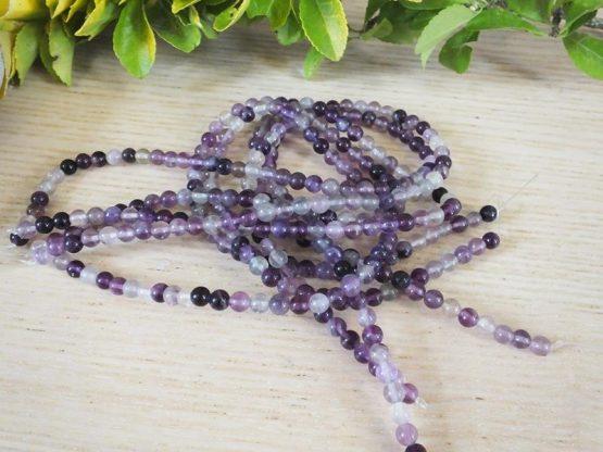 pierre fluorite violette perles