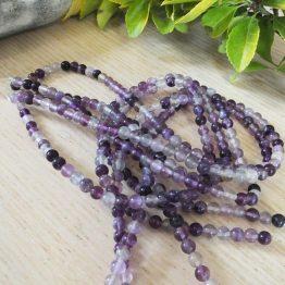 violet fluorite perles