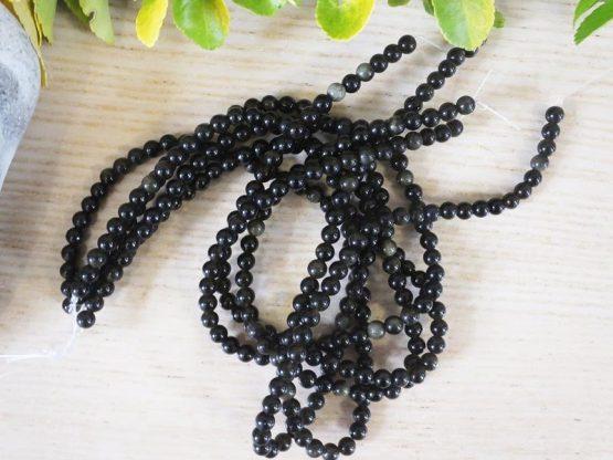 perles d'obsidienne 6mm