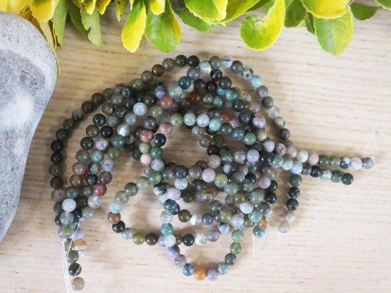 perles d'agate indienne 6mm