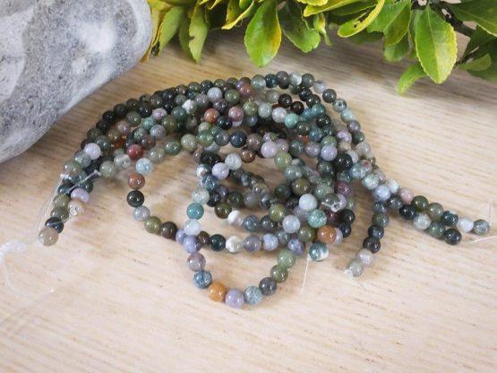 perles agate colorée 6mm
