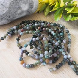 perles pierre d'agate 6mm