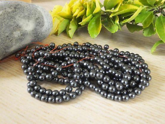 perles en hématite mm