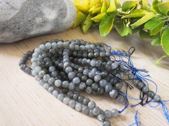 perles labradorite bleue 6mm