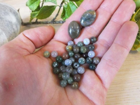 perles pierre d'agate
