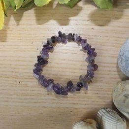 bracelet en améthyste naturelle