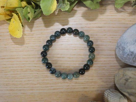bracelet agate mousse naturelle