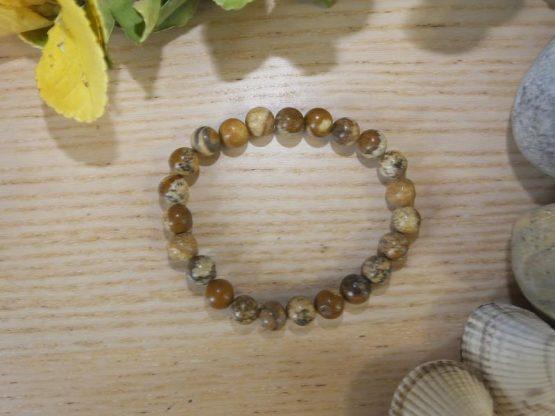 jaspe paysage bracelet perles