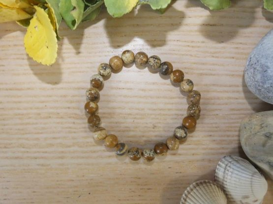 bracelet jaspe paysage perles