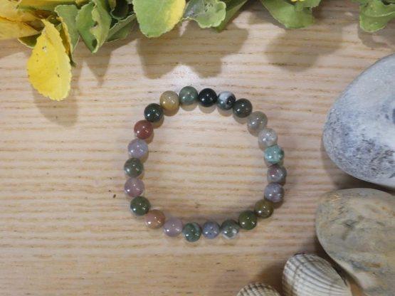 perle agate indienne bracelet
