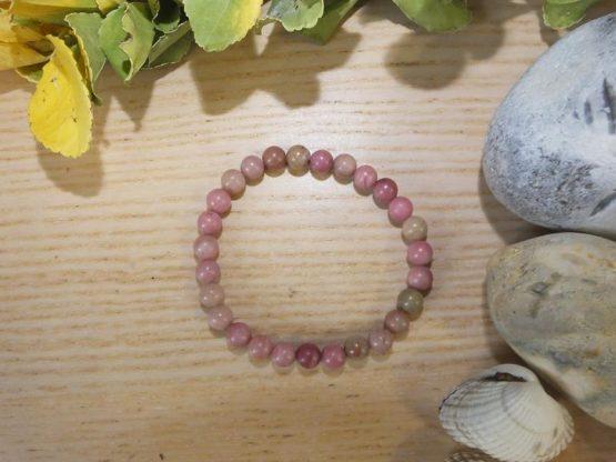 bracelet pierre rhodochrosite