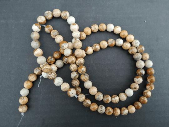 jaspe paysage perles 8mm