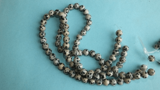 8mm perles jaspe dalmatien