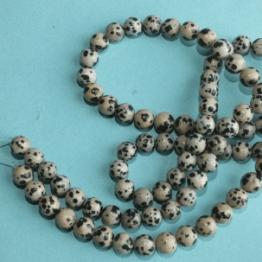 perles jaspe dalmatien 8mm
