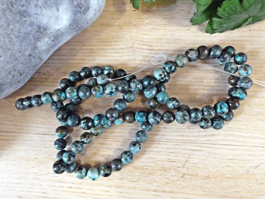 jaspe turquoise africaine 8mm