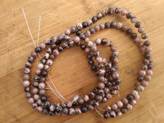 perles rhodonite