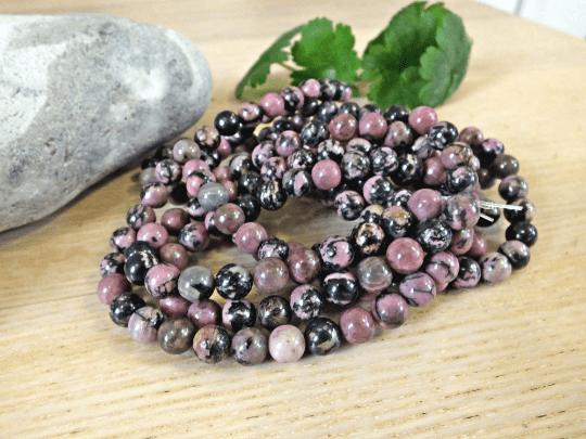 8mm perles rhodonite