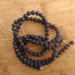 perle en pierre de lave 6mm