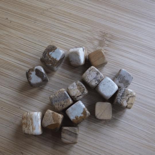jaspe paysage pierres roulées