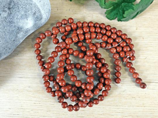 jaspe rouge perle 8mm