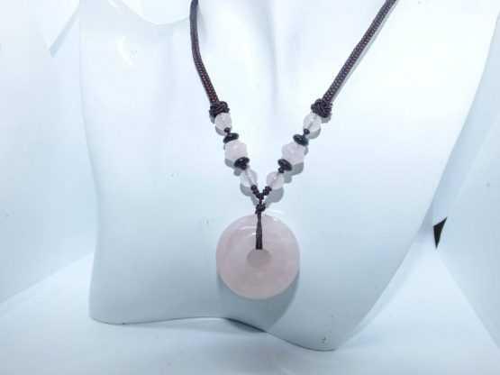 quartz rose pierre pendentif