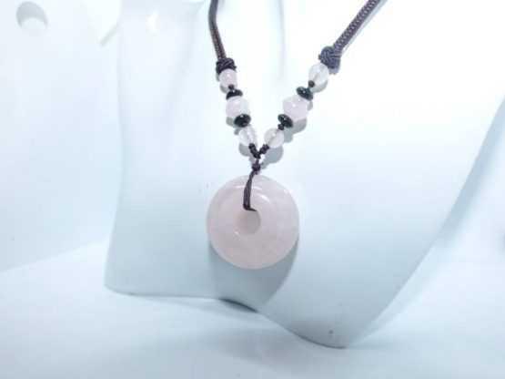 pierre quartz rose pendentif