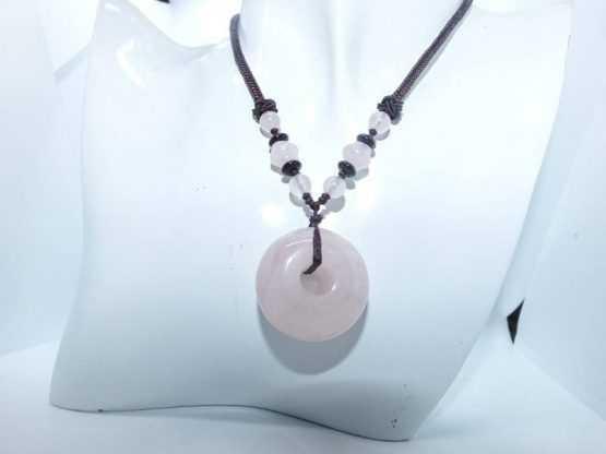 quartz rose pendentif