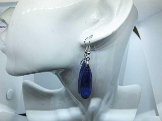 boucles d oreilles en lapis lazuli