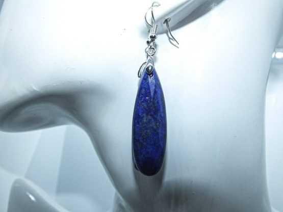 boucles d oreilles pendantes lapis lazuli