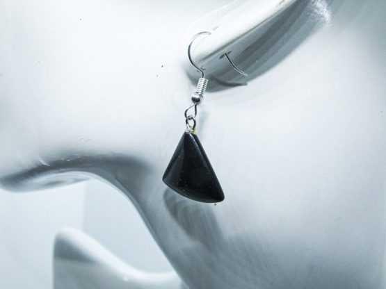 boucle d oreille onyx noir