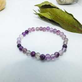 bracelet fluorite violette
