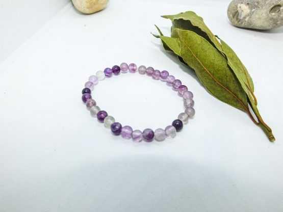 violet fluorite bracelet