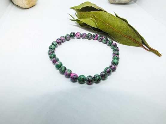 bracelet perles rubis zoisite