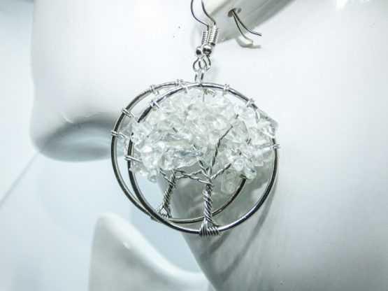 boucles pierre cristal de roche