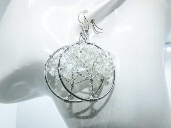 paires de boucles cristal de roche