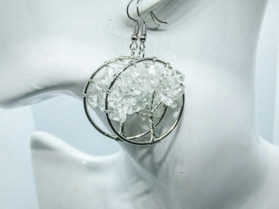 bijou cristal de roche boucles