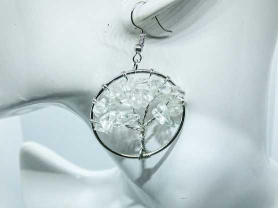 boucle d oreille en cristal de roche