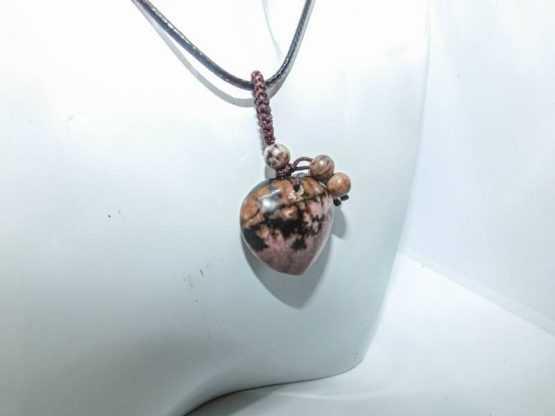 pendentif pierre naturelle rhodochrosite