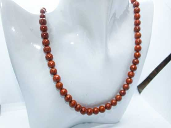 jaspe rouge collier de perles