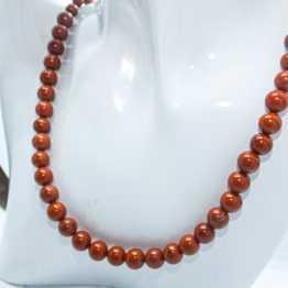 collier pierre jaspe rouge