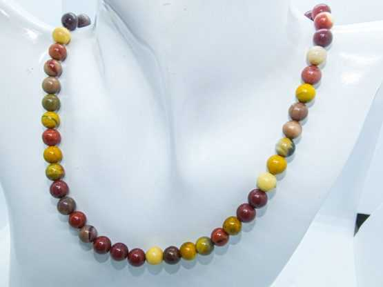 collier perles jaspe mookaite
