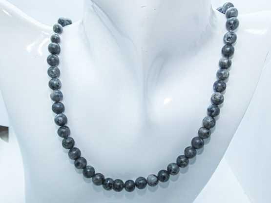 labradorite spectrolite collier perles