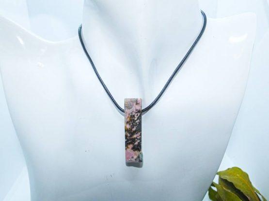 pendentif rhodonite naturelle
