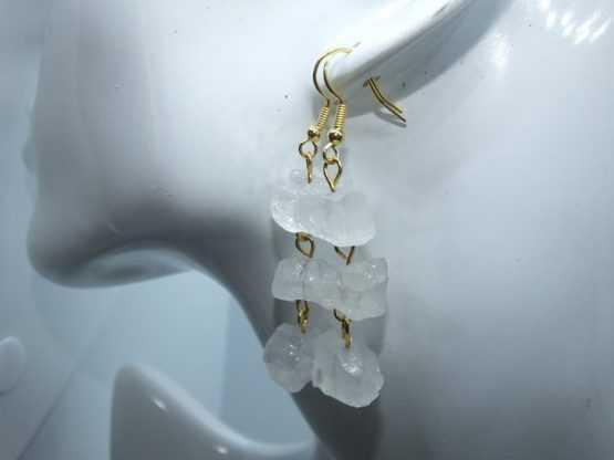 boucles quartz transparent