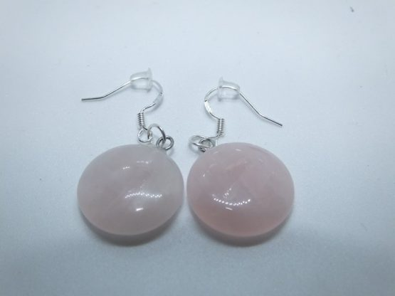 boucles d oreille pendante quartz rose