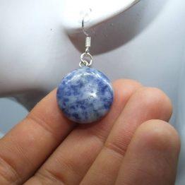 boucle d oreille avec pierre bleu sodalite