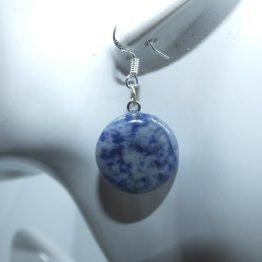boucle d oreille pendante pierre bleu sodalite